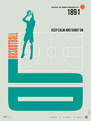 Amusing Digital Art - Basketball Poster by Naxart Studio