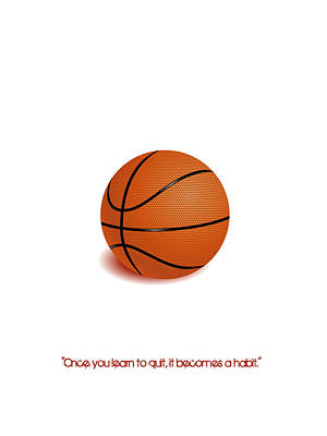 Digital Art - Basketball Quote Minimalist Sports Poster by Adam Asar