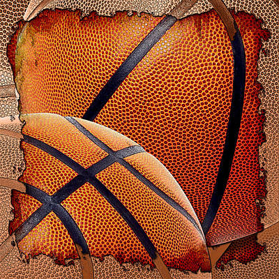 Basketballs  Art Print by David G Paul