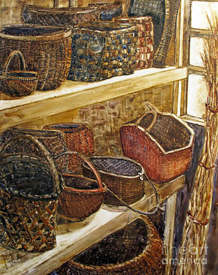 Painting - Baskets Galore by Louise Peardon