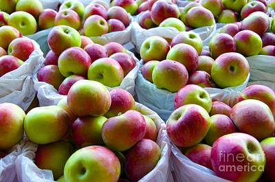 Baskets Of Apples  Art Print