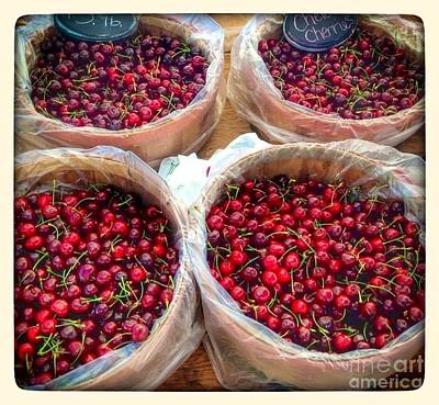Photograph - Baskets Of Cherries  by Susan Garren