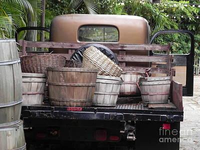 Baskets Of Feed Art Print by Chrisann Ellis
