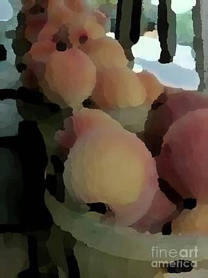 Photograph - Baskets Of Peaches by Donna Cavanaugh
