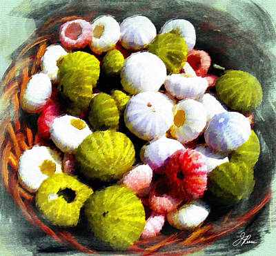 Painting - Baskets Of Seashells  by Joan Reese