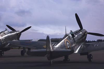 Spitfire Photograph - Basking by Jason Green