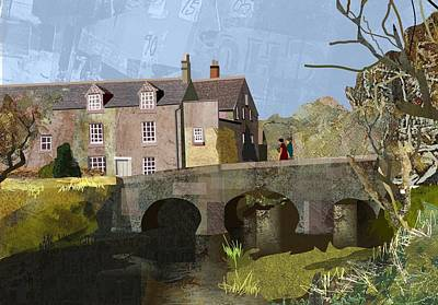 Digital Art - Baslow Bridge by Kenneth North