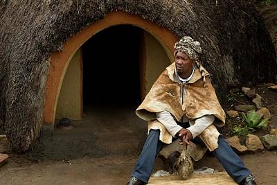 African Fabric Photograph - Basotho Herbal Healer by Bob Gibbons