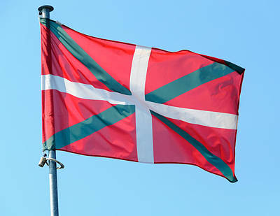 Fluttering Photograph - Basque Country Flag by Dutourdumonde Photography