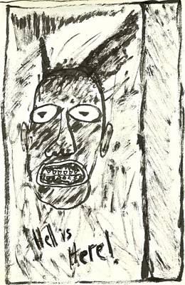 Basquiat - Hell Here 11-004 Art Print