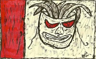 Basquiat - Mask 11-002 Art Print