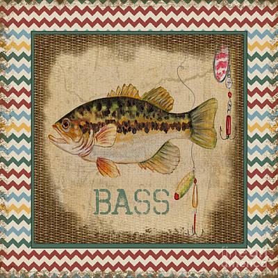 Painting - Bass-chevron by Jean Plout