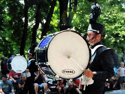 Bass Drum Photograph - Bass Drums On Parade by Susan Savad