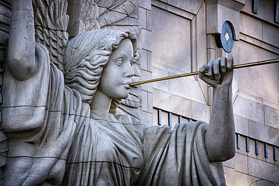 Landmarks Royalty Free Images - Bass Hall Angel Royalty-Free Image by Joan Carroll