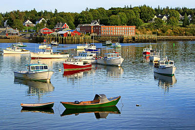 Photograph - Bass Harbor Evening by Carolyn Derstine