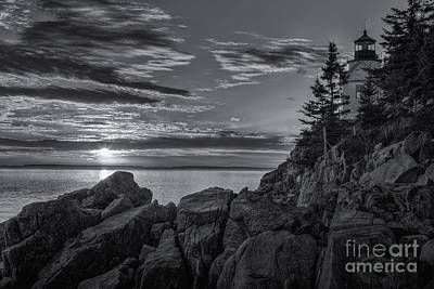Photograph - Bass Harbor Head Light At Sunset II by Clarence Holmes