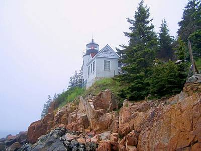 Photograph - Bass Harbor Head Light by Gene Cyr