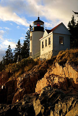 Photograph - Bass Harbor Head Lighthouse I by Daniel Woodrum