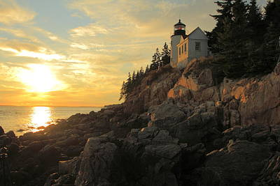Bass Harbor Head Lighthouse Maine Usa Art Print