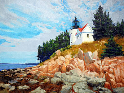 National Parks Painting - Bass Harbor Light by Armand Cabrera