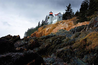 Photograph - Bass Harbor Light At Christmas by Brent L Ander