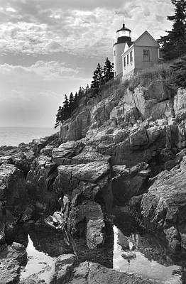Maine Landscapes Digital Art - Bass Harbor Light by Mike McGlothlen