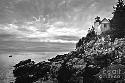 Bass Harbor Lighthouse At Dusk Art Print by Diane Diederich