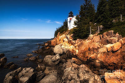 Photograph - Bass Harbor Lighthouse by Deborah Scannell