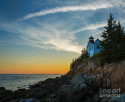 Maine Shore Photograph - Bass Harbor Lighthouse by Diane Diederich