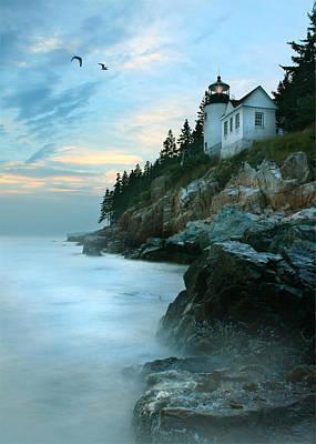 Lighthouse Digital Art - Bass Harbor Lighthouse by Lori Deiter