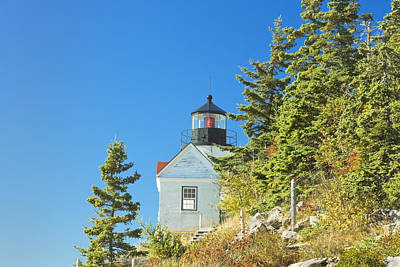 Bass Harbor Lighthouse Mount Desert Island Maine Art Print