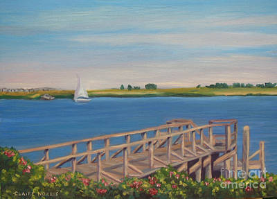 Cape Cod Painting - Bass River by Claire Norris