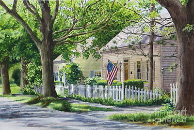 Painting - Bass River Homes by Karol Wyckoff