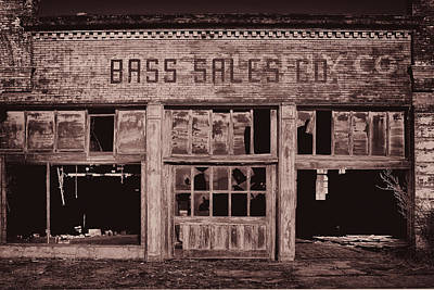Photograph - Bass Sales Co Cairo Il Monotoneimg 2962  by Greg Kluempers