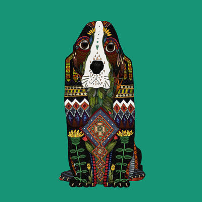 Basset Hound Jade Print by Sharon Turner