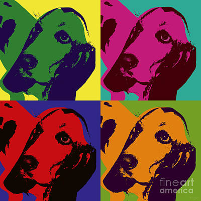 Digital Art - Basset Hound by Jean luc Comperat