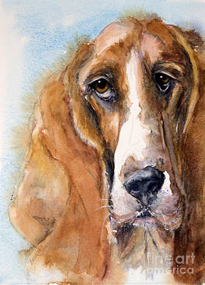 Painting - Basset Hound by Judith Levins