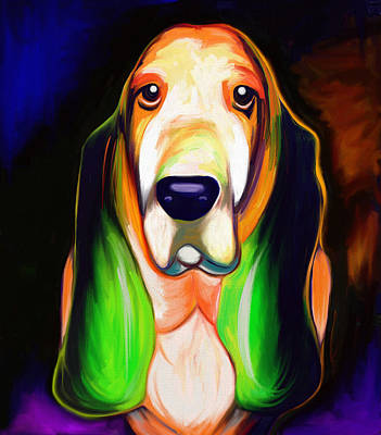 Painting - Basset Hound  by Julianne  Ososke
