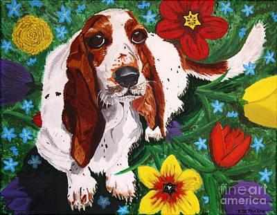 Painting - Basset Hound by Vicki Maheu