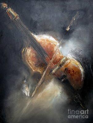 Ann Holder Painting - Bassically Speaking by Ann Holder