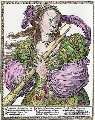 Bassoon Painting - Bassoonist, 16th Century by Granger