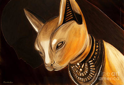 Dea Painting - Bast by Betta Artusi