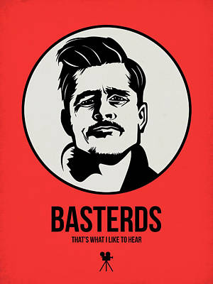 Superhero Mixed Media - Basterds Poster 2 by Naxart Studio