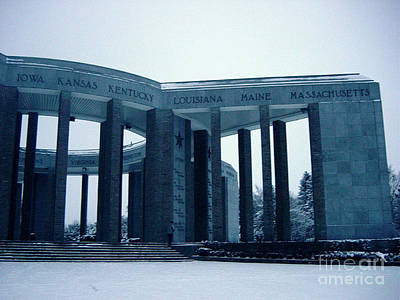 Photograph - Bastogne Liberation Memorial by Deborah Smolinske