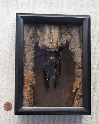 Sculpture - Bat In A Box by Roger Swezey