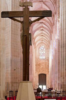 Cross Photograph - Batalha Monastery Altar Crucifix by Jose Elias - Sofia Pereira