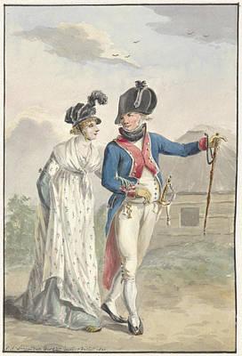 Batavian Officer Of The 1st Half Brigade Art Print by Quint Lox