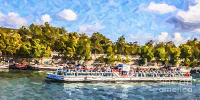 Digital Art - Bateau Mouche by Liz Leyden