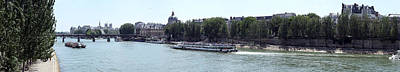Bateaux Boat In A River, Seine River Art Print by Panoramic Images