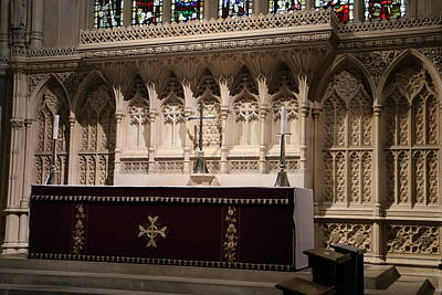 Photograph - Bath Abbey Altar by Denise Cicchella